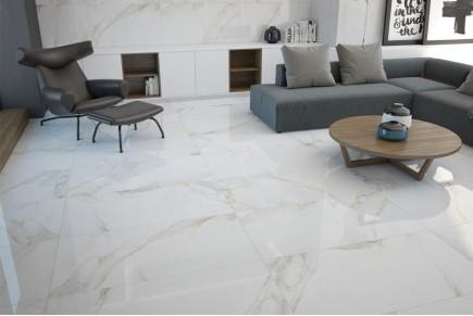 Marble effect tiles - Calacatta