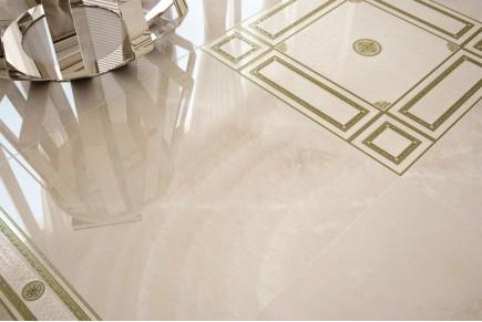 Grès cérame effet marbre agathe beige