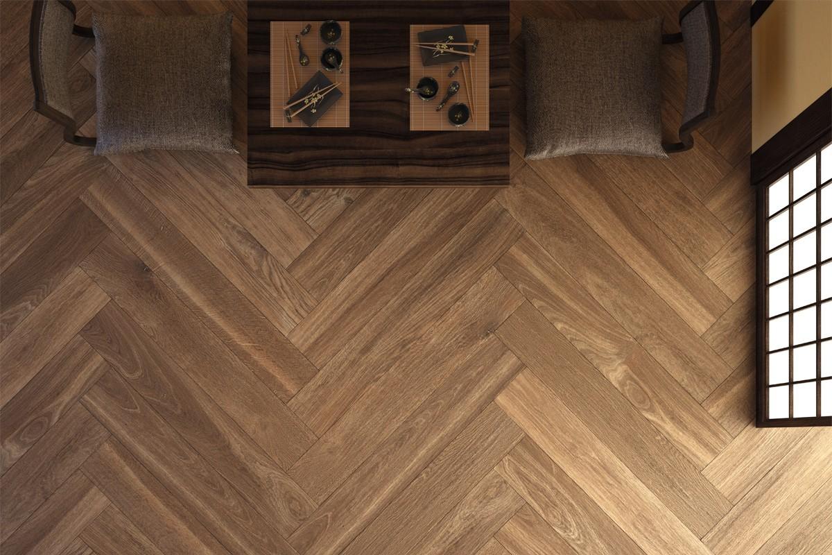 Gres porcellanato effetto legno castagno pat 1202 14 5x120 - Piastrelle gres effetto legno ...