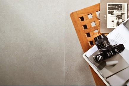 Grès cérame effet ciment gris
