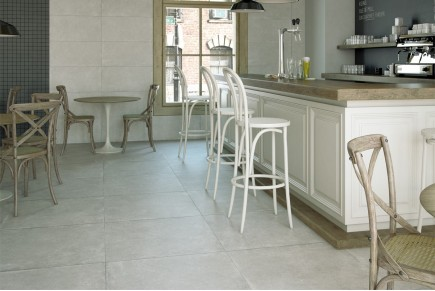 Concrete effect floor tiles - Concrete Grey