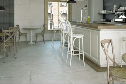 Grès cérame effet concret gris ciment