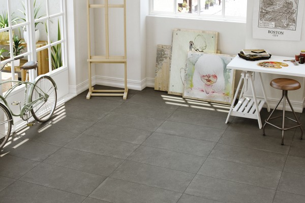 Concrete Effect Floor Tiles Anthracite Italiangres