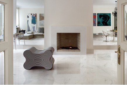Marble effect tiles -Statuario