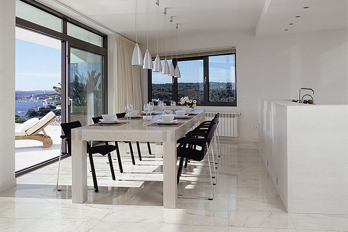 Marble effect tiles ice white ma 7001 29 7x59 5 lap ret - Table en gres cerame ...