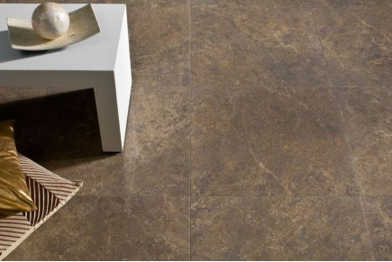 Marble effect porcelain stoneware brown