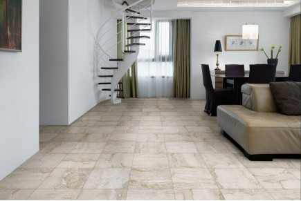 Marble effect porcelain stoneware dolcevita