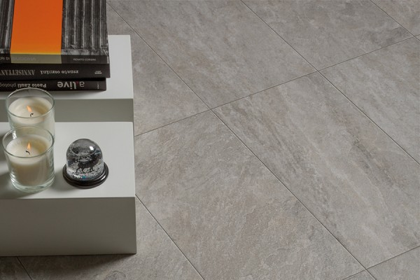 Stone effect porcelain stoneware cemento