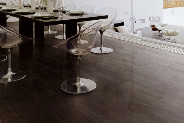 Stone effect tiles - Mokka