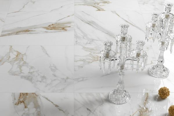 Glänzender marmor cremefarbiges Melange