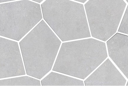 Light grey concrete geometric wall tile