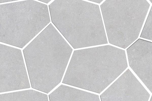 Wandfliesen Geometrisch Beton light grey