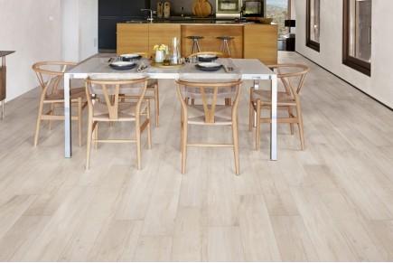 Wood effect floor tiles - White