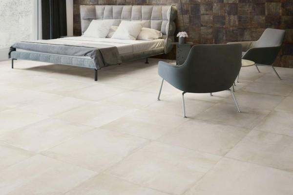 Concrete effect floor beige
