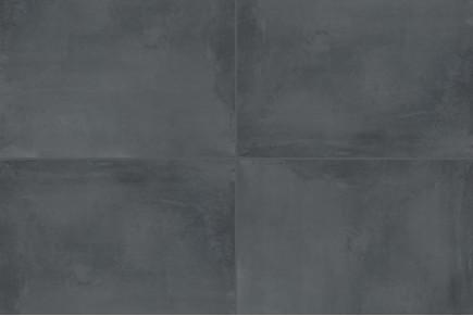 Concrete effect floor black