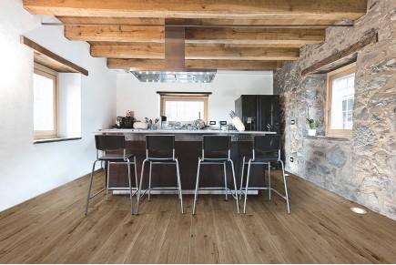 Wood effect floor tiles dark