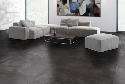 Concrete effect floor tiles cendre anthracite