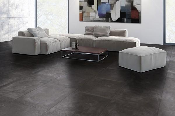 Concrete effect floor tiles cendre anthracite