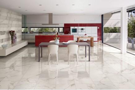 Gres porcellanato effetto marmo calacatta levigato