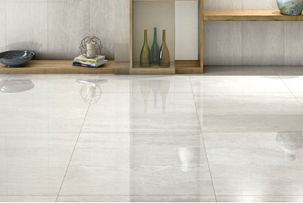 White glossy marble