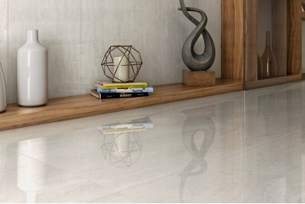 Silver glossy marble