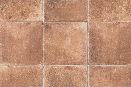 Terracotta effect floor tiles - White
