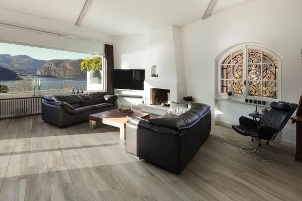Wood effect floor tiles - light brown