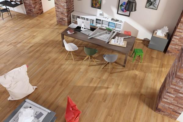 Wood effect floor tiles - Beige