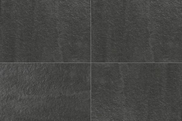 Steineffekt Fliesen - Schwarz