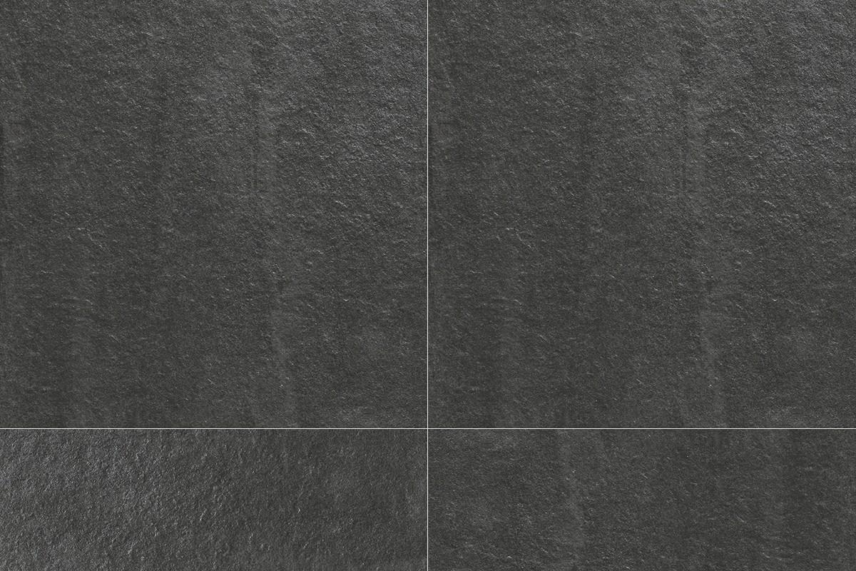 Steineffekt Fliesen Schwarz Gres KA 7014 30X30 ROC