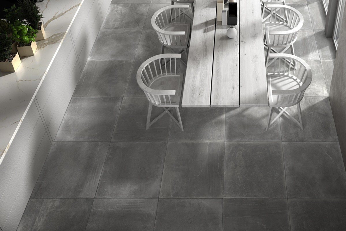 Dark Stone Porcelained Stoneware With