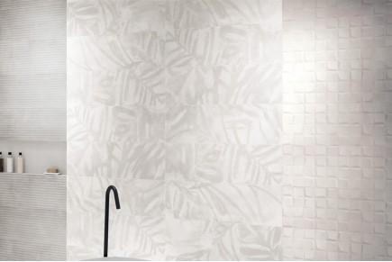 Leaves decor White/Grey
