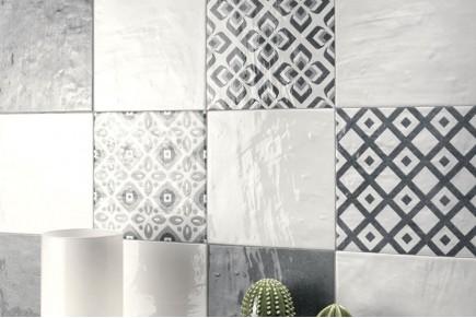 Décorum texture blanche et grise