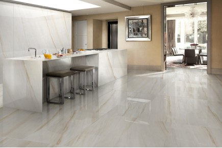 Glossy gold vein marble