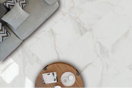 Grès cérame effet marbre calacatta