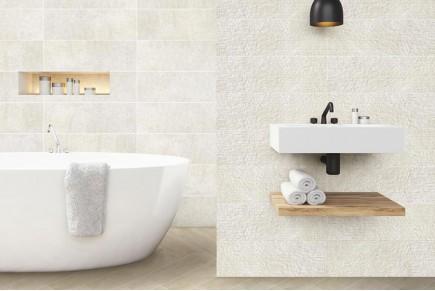 Stripes white wall tiles