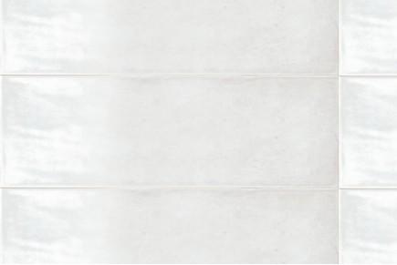 Glänzende wandfliese white