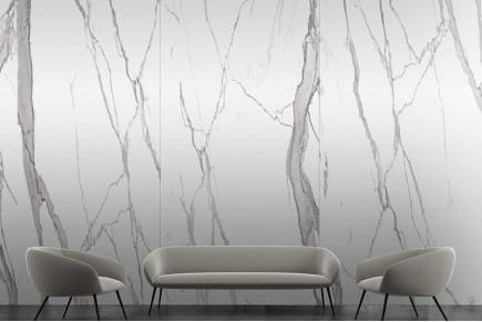 Statuario semi polished marble