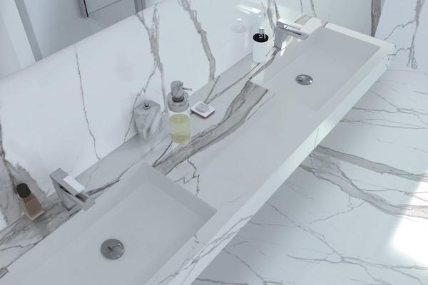 Glänzender Statuario marmor