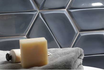 Smooth hexagonal tiles - Bright storm