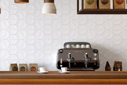 Smooth carreaux hexagonaux - Blanc mat