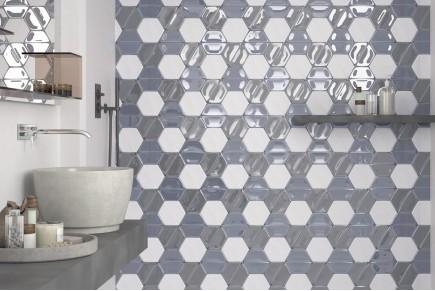 Smooth hexagonal tiles - Mix 1