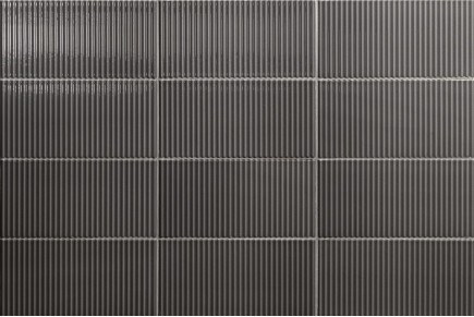 Bright striped tiles - charcoal vertical