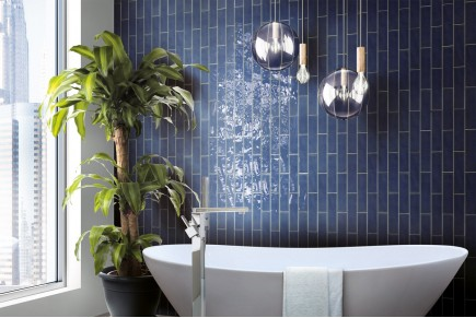 Sparkling Brick tiles - blue
