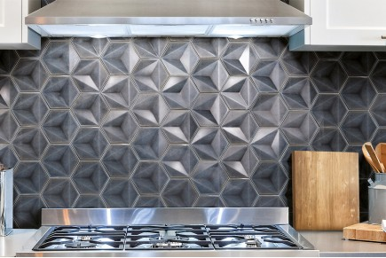Sparkling hexagonal tiles - smoke