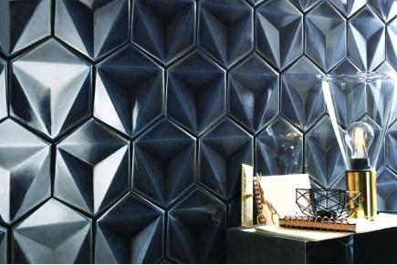 Carreaux hexagonales étincelantes - Grafite