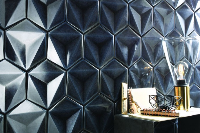 Sparkling hexagonal tiles - graphite