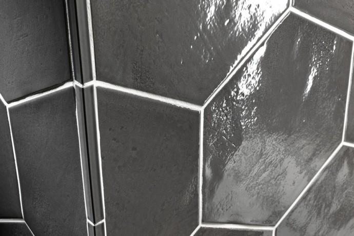 Sechseckige Fliesen - Charcoal