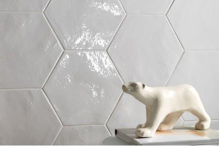 Carreaux hexagonaux - Blanc