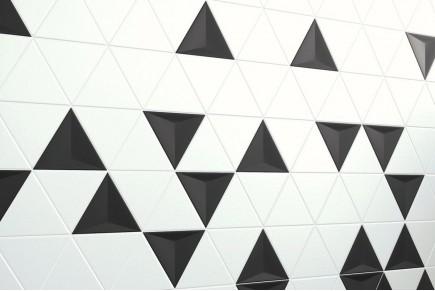 Dreieckige Fliesen - Mischen Sie 3d schwarz, weiß